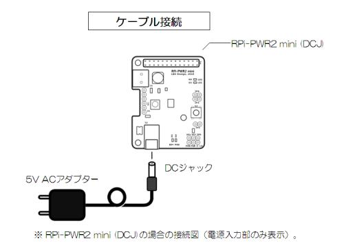 RPi-PWR2 mini Cabling-DCJ