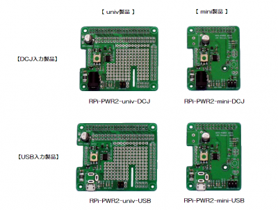 RPi-PWR2 Products Line-Up